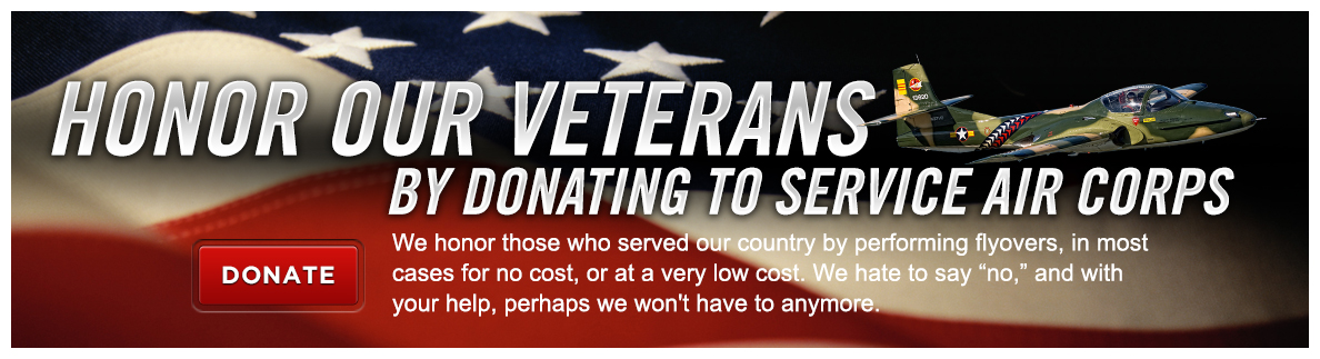 Honor our veterans by donating to Service Air Corps